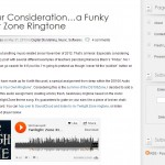 For Your Consideration…a Funky Twilight Zone Ringtone