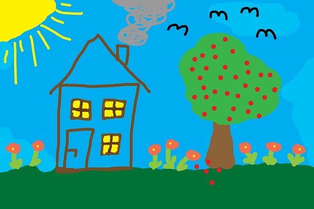 Public Domain image from pixabay https://pixabay.com/en/children-drawing-home-tree-meadow-582306/