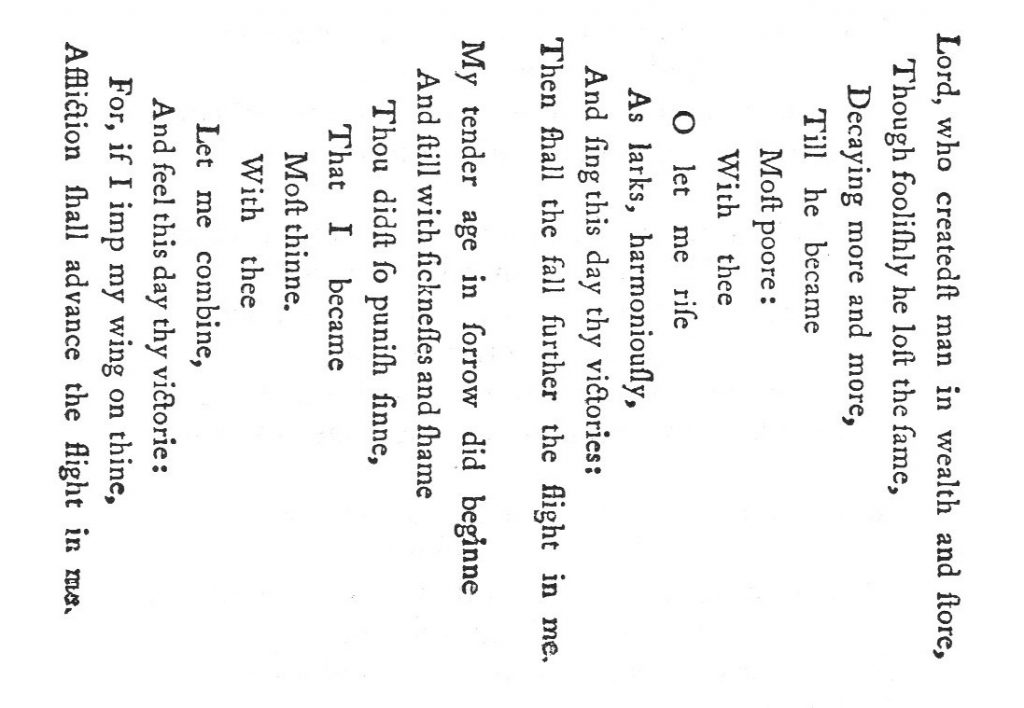 Wings of silence, a 1633 concrete poem by George Herbert. Public domain image from Wikimedia Commons