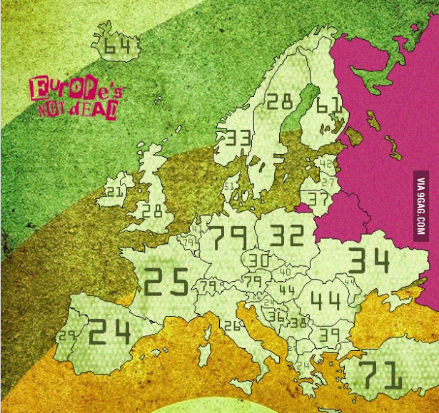 Longest words in European countries from 9gag.com