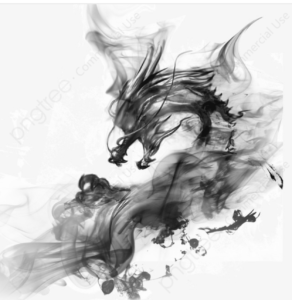 Illustration of a chinese dragon