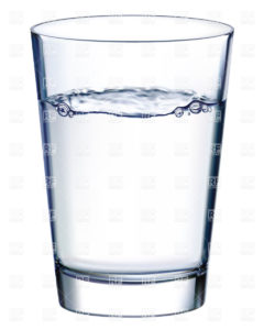 a clear glass of water