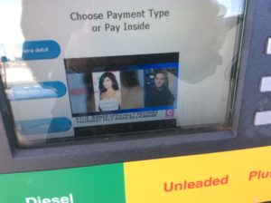 News story about Kylie Jenner at the gas pump